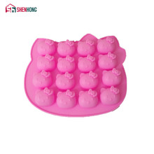 Pink Hello kitty Shape Fondant Cake Pan Silicone Mold Sugar Craft Baking Pan Cake Decoration(China)