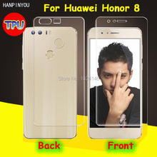 "Front/Back Full Coverage Clear Soft TPU Film Screen Protector For Huawei Honor 8 5.2"", Cover Curved Parts (Not Tempered Glass)"