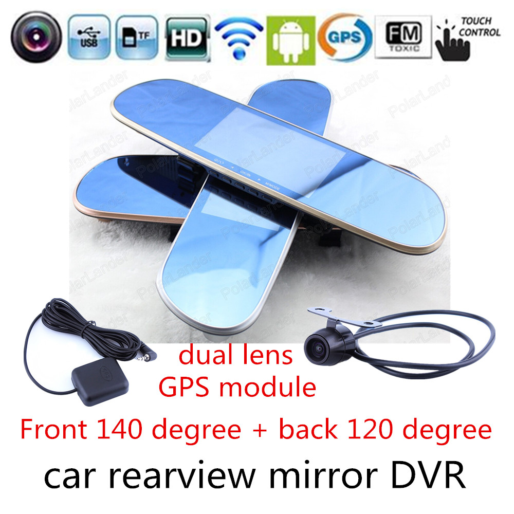 Car GPS Navigator for Android DVR Mirror Rearview Camera WIFI FM Transmitter 5.0 Inch Touch screen HD 1080P Recorder<br><br>Aliexpress