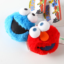 2 Colors Sesame Street Pull Shocked Plush Doll Plush Backpack Pendant Toys Blue and Red Cookie Monster Plush Bag Kids Gift