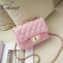 Buy Famous Brand Leather Messenger Bags Luxury Shoulder Bag Quilted Designer Handbags Women Pink Bag Vintage Small Crossbody Bags for $17.88 in AliExpress store