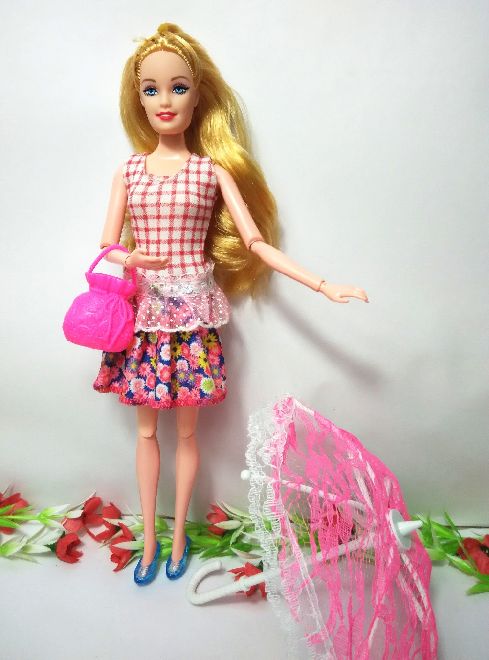 Ladies present unique princess doll Doll physique+head+costume+Crown+bracelet,2pcs doll with garments, doll equipment for barbie YF-18