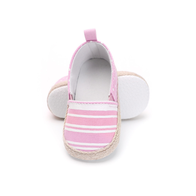 Baby Girl Shoes Toddler Infant Baby Girl Dot Striped Crib Shoes Soft Sole Anti-slip Single Shoes Baby First Walker Shoes M30#F (21)
