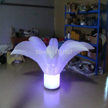 Stage decoration stand inflatable led flower for wedding (2m)(China)