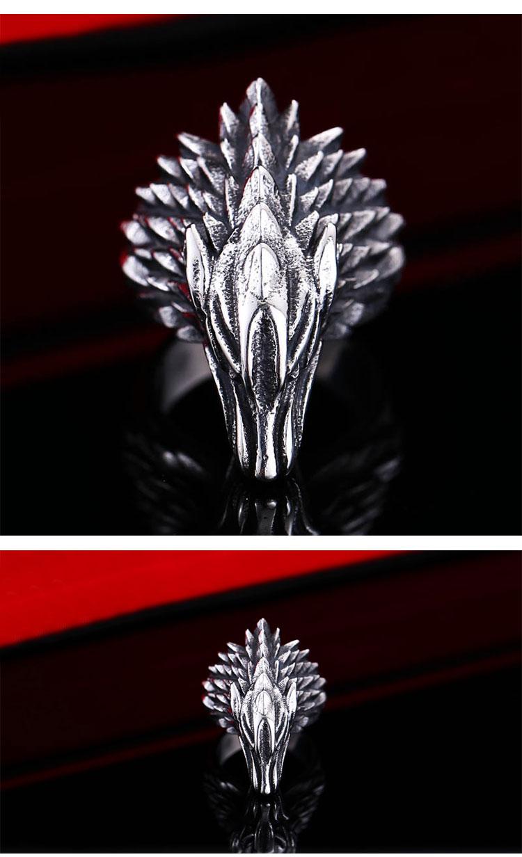 แหวนผู้ชายเท่ห์ๆ Code 042 แหวนหมาป่า สแตนเลส แกะลายคมๆสวยๆ10