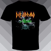 2017 Sleeve Sleeve Fashion Summer Printing Casual New DEF LEPPARD POISON TESLA Concert Rock Tour 2017 Band Men's Black T-Shirt