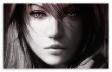 Final Fantasy XIII, Lightning Face - Video Game Poster Print Canvas Print Home Decoration 50x75cm Free Shipping