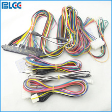 1pcs 28pin Jamma Harness with 6/8 Buttons Wires for Arcade Games PCB Output for LCD Game Machine Accessory