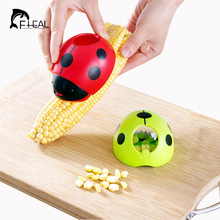 FHEAL Creative Ladybug Hand Corn Stripper Stainless Steel Corn Grain Separator Cob Remover Cutter Thresher Cooking Tools(China)