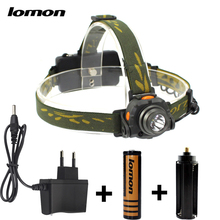 LOMOM Sensor Head Torch Waterproof Rechargeable Cree LED Headlamp Headlight Camping Hunting Lamp 18650 Charger wholesale
