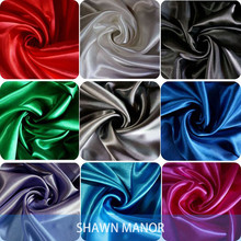 4Yards 59'' Width Satin Fabric For Sewing Dresses Costumes Lining Or DIY Curtain(China)