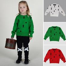 New winter soft baby girls sweater cloud raindrops kids clothes children sweater warm long sleeve for boys girls knitwear R2-16H