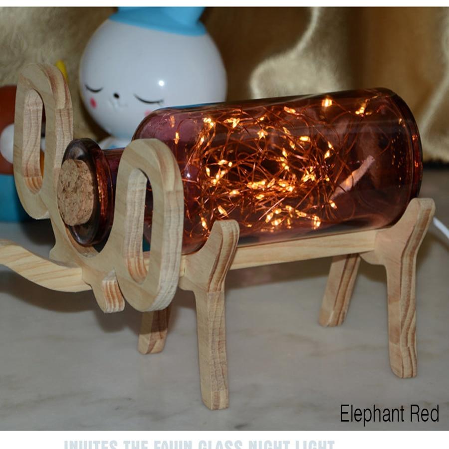 Christmas gifts deer elephant night light LED glass lamp creative desktop decoration night light<br><br>Aliexpress