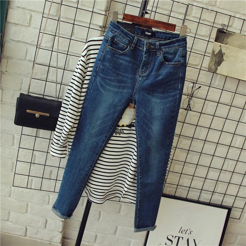 2017 Spring New Arrival Women Slim Jeans Mid Waist Full Length Pencil Pants Denim Pants Quality Guarantee MP012Одежда и ак�е��уары<br><br><br>Aliexpress
