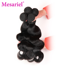 Mesariel Brazilian Body Wave Bundles Free Shipping Non-Remy Hair 8-28inch Natural Color 100 Human Hair Weave Extensions(China)