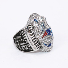 USA size 7 to 15! 2016 New England Patriots super bowl 51 world championship rings replica offical version BRADY drop shipping(China)