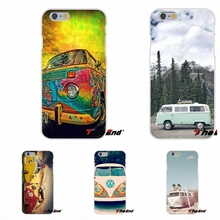 For Sony Xperia Z Z1 Z2 Z3 Z5 compact M2 M4 M5 E3 T3 XA Aqua Silicone Phone Case Amazing VW Volkswagen Bus Art Poster(China)