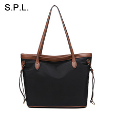 S.P.L. Brand Waterproof Bag Women Oxford Simple Patchwork Causual Shoulder Bag Bag OL Big Tote Bag Female Solo el paquete del ho