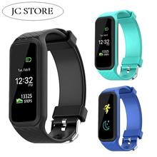Buy Colorful Screen L38i Bluetooth Smart Band Heart Rate Monitor Fitness Track sport Wristband pk xiaomi mi band cicret Bracelet for $31.49 in AliExpress store