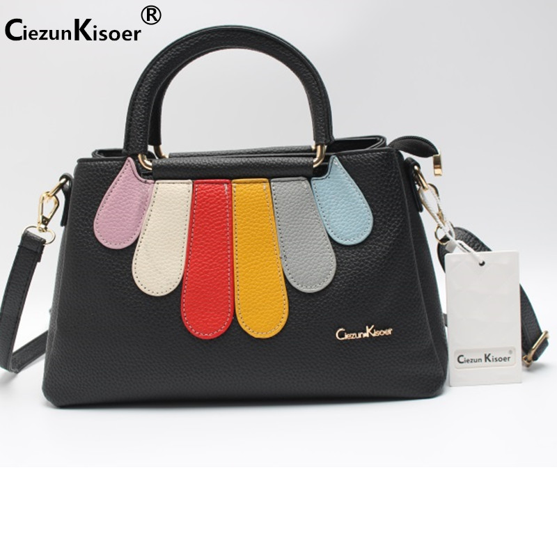 bao bao Womens bags 2017 new rainbow splicing fashion handbag with a single shoulder bag ladies bags small bags for women<br>
