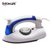 TINTON LIFE Mini Portable Foldable Electric Steam Iron With 3 Gears Teflon Baseplate Handheld Flatiron For Home Travelling