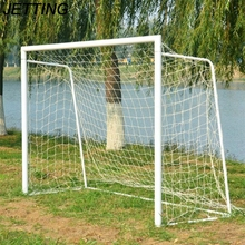 JETTING 1Pcs Wholesale Full Size Sports Match Outdoor Training Practice Junior Poly Fiber  Football Soccer Goal Post Net