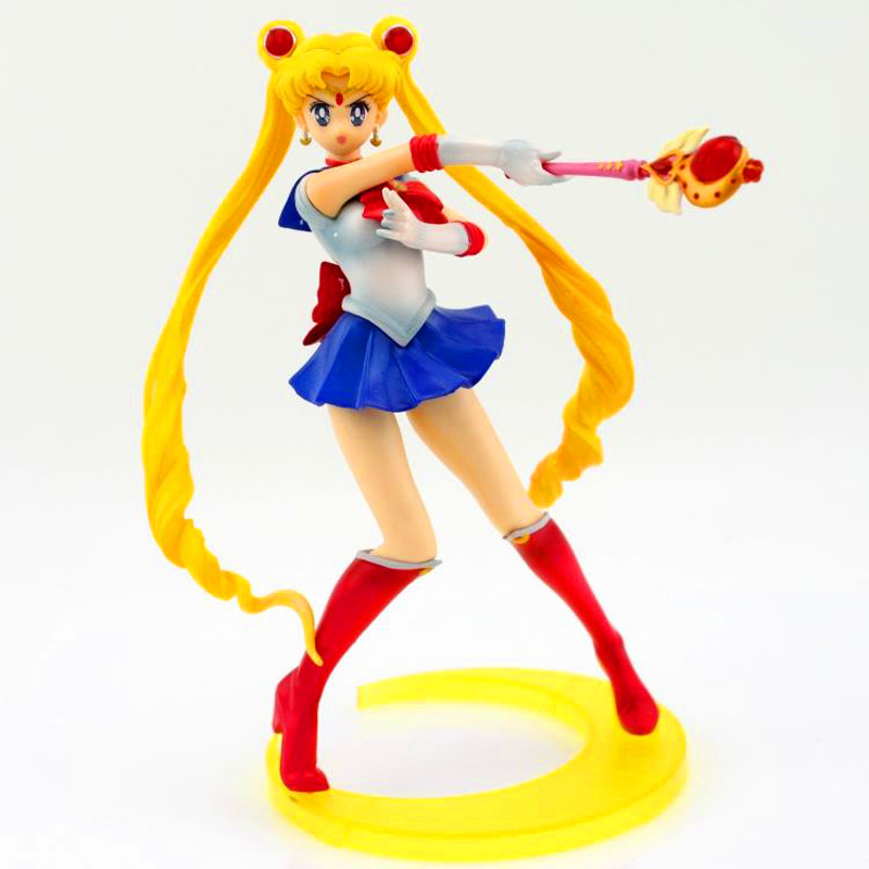 Sailor Moon Tsukino Usagi Pvc Action Figures Cute 20CM Japanese Anime Figuarts Collection Model Juguetes Kids Toys for Children<br><br>Aliexpress