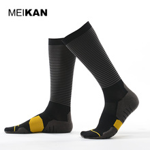Soccer Socks High Knee Outdoor Calcetines Ciclismo Meias Esportivas Compression Socks For Men Professional Coolmax Cycling Socks(China)