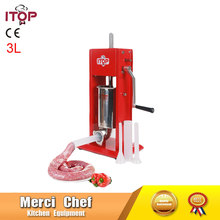 Food Machine 3L Big Sausage Maker Manual Sausage Stuffer Machine Making Filling Vertical Sausage Filler Meat Processor(China)