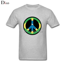 Brasil Flag Peace Logo T-shirt Men's Fashion Short Sleeve Cotton Custom XXXL Group  T Shirt