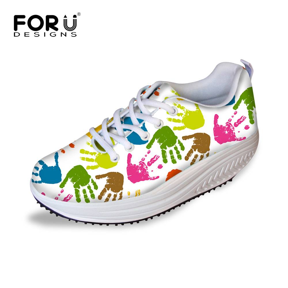 FORUDESIGNS 2017 Fashion Womens Lace-up Swing Platform Shoes High Quality Breathable Female Slimming Shoes Height Increasing<br>