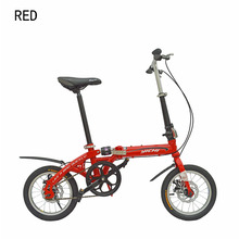 14 inch folding bike mountain bike single speed folding bicycle high carbon steel frame disc brake suitable 160-185cm