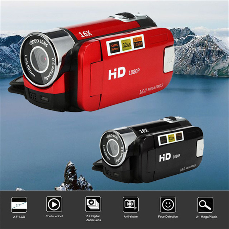 HD 1080P Digital Camera Video Camcorder HD 1080P Handheld Digital Camera 16X Digital Zoom 2