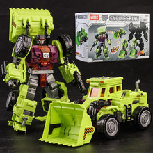 Transformation Robot Car Metal Alloy Engineering Construction Vehicle Truck Action Figure