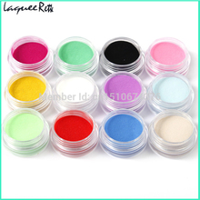 Brand Hot AliExpress 12 Colors Acrylic Powder Manicure Tips Nail Art 3D Decoration Builder Polymer nail dip powder(China)