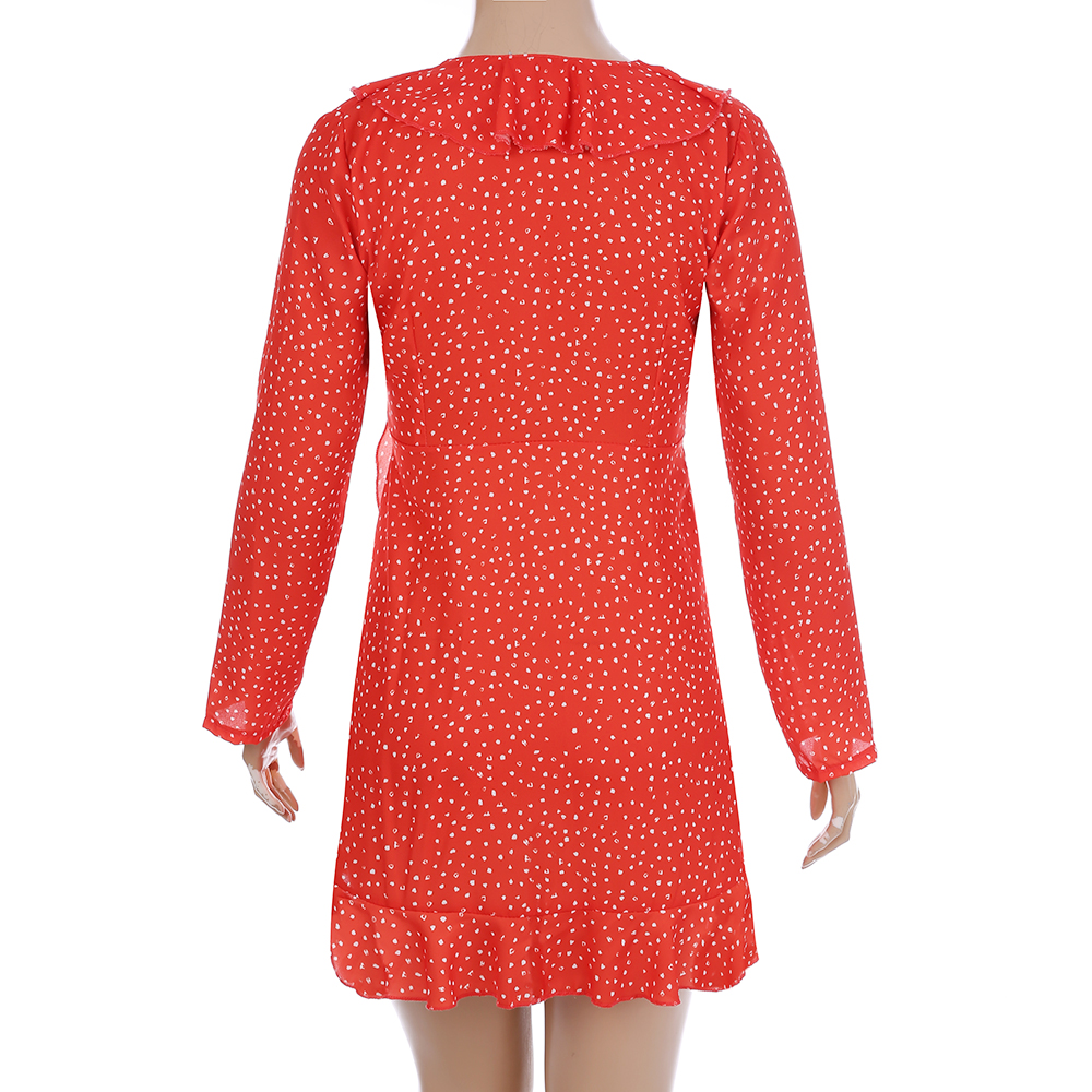 Täpiline sinine või punane minikleit