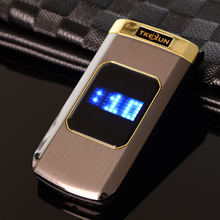 Luxury Original TKEXUN M3 Metal Phone Flip Mobile Phone Standby Vibration Phone  Russian French Language TKEXUN M3