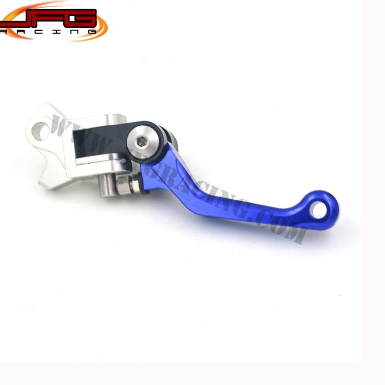 4 Directions Foldable Aluminum Billet Pivot Brake Lever For KX250F KX450F KXF250 KXF450  Motocross Enduro  Dirt Bike<br><br>Aliexpress