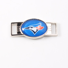 Toronto Blue Jays MLB Baseball Team Logo Oval Shoelace Charms For Sport Shoes And Paracord Bracelets Jewelry Decoration 6pcs