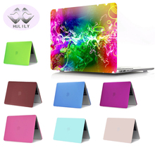 HULILY Frosted Surface Case For Apple Macbook Air 11 13 laptop case For Mac book pro 13 15 Retina 12 13 15 cover