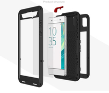 Dustproof shockproof Aluminum Metal Cell Phone Case Cover For Sony Xperia XA Ultra