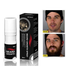 Men Facial Hair Growth Oil Thick Full Beard Growth Spray 60ml Beard Grow Simulator Accelerate Hair Fast Grow(China)