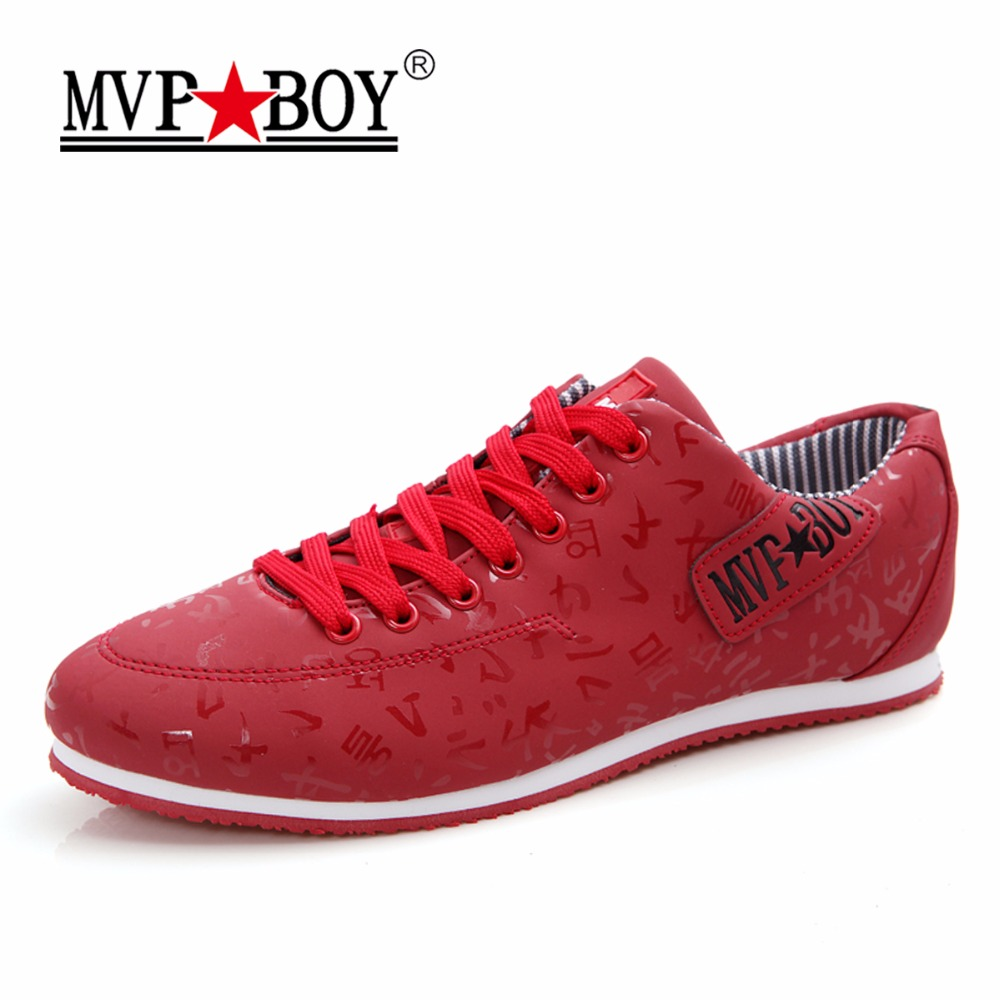 MVP BOY Brand Men Shoes New Arrivals Fashion Lightweight Letter Pattern Men Casual Shoes,Comfortable Lace-Up Casual Shoes Men<br>