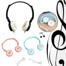 3.5mm Wired Stereo Headset Foldable Headband Over Headphone Earphone w/ Mic for PC Laptop Low Bass Wired Headset phone cable