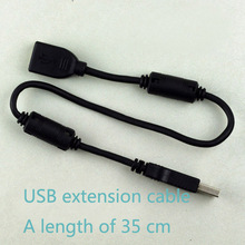 Brand original USB2.0 extension cable male to female black with short magnetic shielding 38cm tinned copper cable