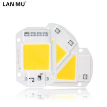 LAN MU LED COB Lamp Chip 10W 20W 30W 50W 220V 110V Input Smart IC Driver Fit For DIY LED Floodlight Spotlight