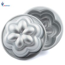 "Upspirit Aluminum Alloy Non-stick 4"" Mini Cake Mold Flower Shaped Cake Decorating Bakeware Pan In Oven For DIY Pudding Stencil"