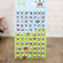 1pc cute panda 3D bubble sticker decoration decal DIY diary album scrapbooking kawaii stationery post it