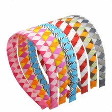 100pcs DHL Free shipping 1.5CM Woven Headband School Headband from China