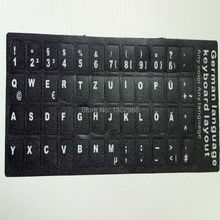 50pcs German  Letters Alphabet Learning Keyboard Layout Sticker For Laptop/Desktop Computer Keyboard 10 inch Or Above Tablet PC